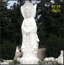 Hand engraving Large White Marble Stone Buddha Statues for Sale