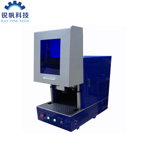 20w fiber laser engraving machine color marking with Electric door