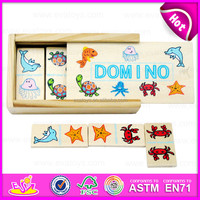 2015 Popular traditional mini wooden domino with box,Small wooden domino game set toy,Kid wooden domino for promotional W15A031B