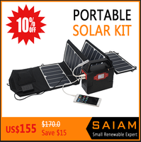 Portable solar system 220v battery computer ac/dc power supply