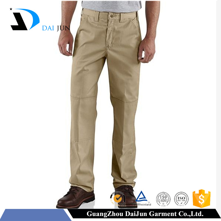 Daijun oem high quality beige anti pilling breathable open crotch work pants
