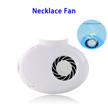 Alibaba Best Sellers Aromatherapy Rechargeable Necklace Cooling Fan