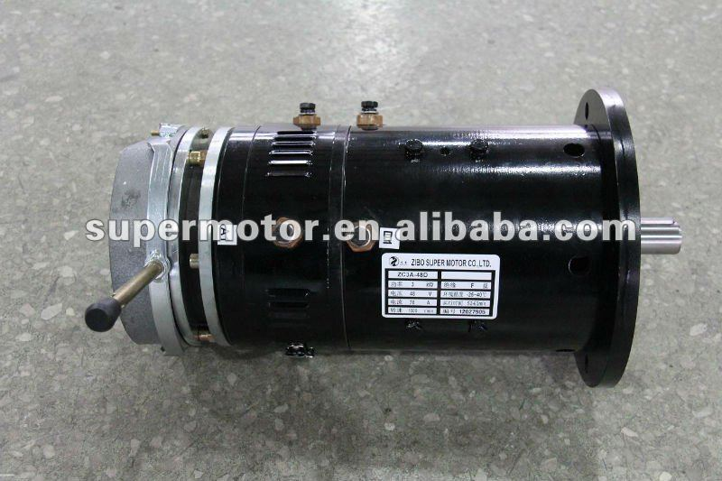 ev dc motor with electromagnetic brake