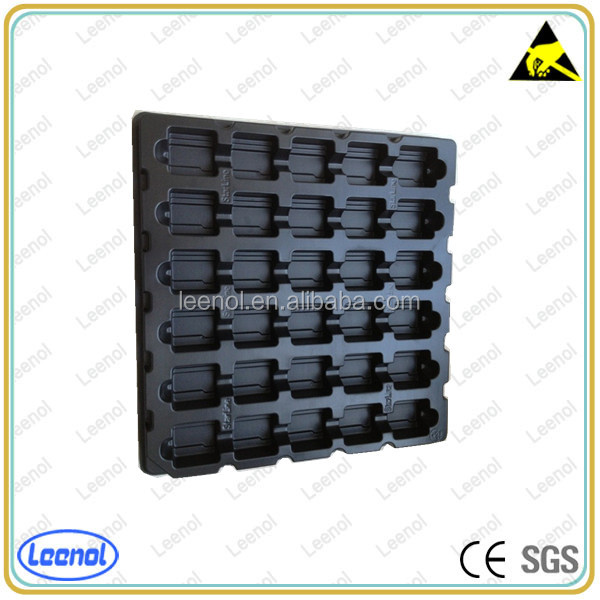 Black plastic esd packaging pcb tray for mobile phone/electronics