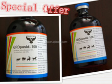 Medicine Grade Grade Stardard Veterinary and Parasite Drugs Povidone Iodine solution 10% with highest quality and lowest price