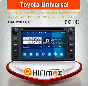 HIFIMAX Android 4.4.4 car radio dvd gps navigation system for TOYOTA RAV4/COROLLA/HILUX /Land Cruiser/Prado/Fortuner/Camry