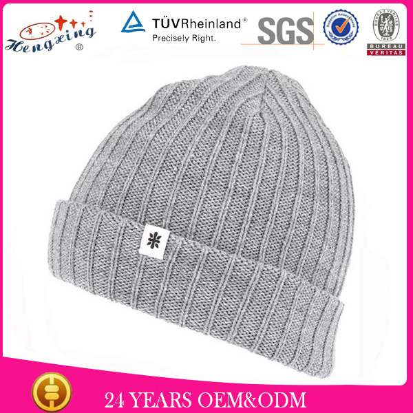 Wool Winter Hats/Cool Winter Hats For Women/Knitted Winter Hat With Small Label