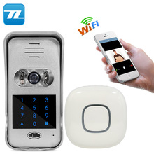 Remote surveillance video door ip wifi video door intercom 12v dc doorbell TL-WF02