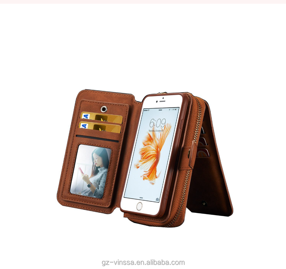 Genuine leather phone case and cardholders money holder