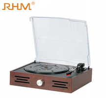 RHM portable suitcase three speeds turntable vinyl record player with good quality