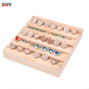 Simple modern wooden trapezoidal jewelry display tray