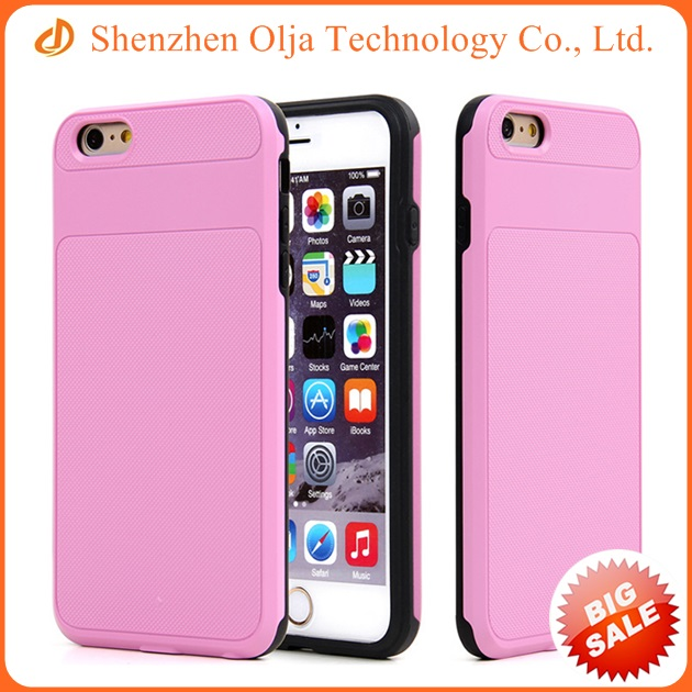 Shockproof hybrid TPU+PC case hard cover for iPhone 6s plus