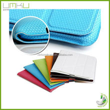 OEM service leather case for ipad 3,Magnetic case wake up/sleep function