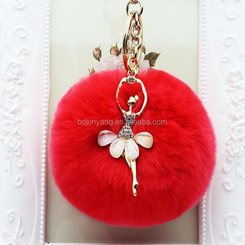 handbags faux fur pom accessory key attachment fur ball keychain
