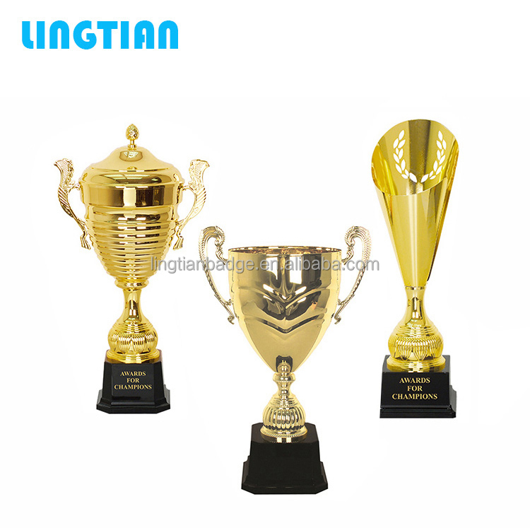 LINGTIAN Crafts Wholesale Custom Made Silver / Gold Metal Cup Trophy