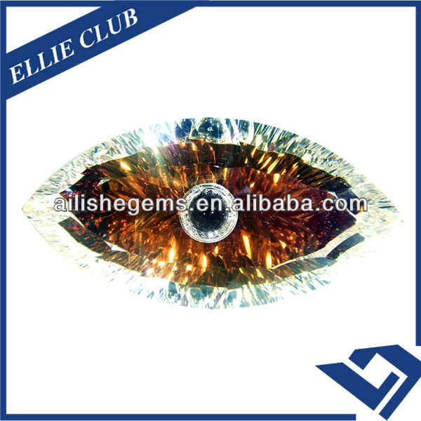 russia cubic zirconia brown color cat eyes loose gems