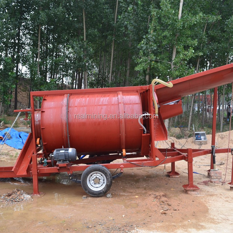Placer Mobile Gold Trommel Wash Plant