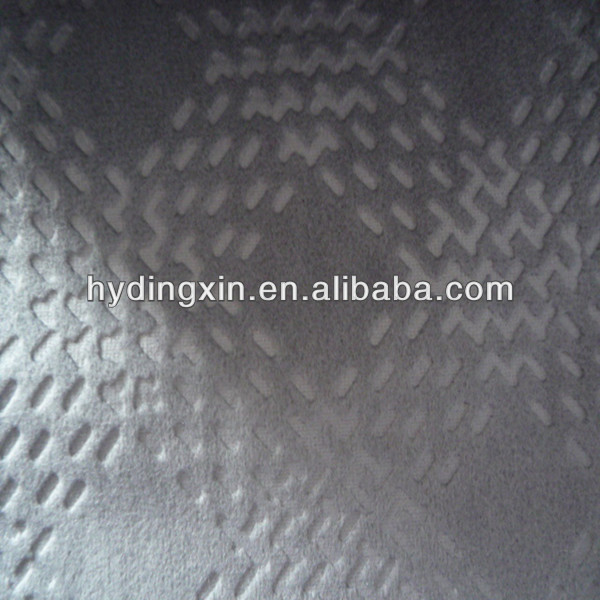 Faux Suede Embossed Fabric for Bus Seat Cover