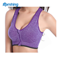 China wholesale fitness young lady zipper hot sex yoga bra sport bra women