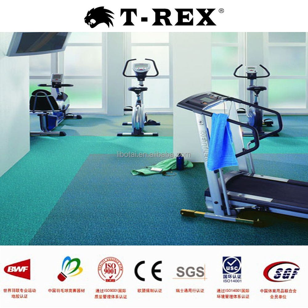 Professional sports floor cheap PVC cleaning rubber floor for gym