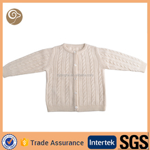 Knitted cable soft wholesale kids cashmere sweater