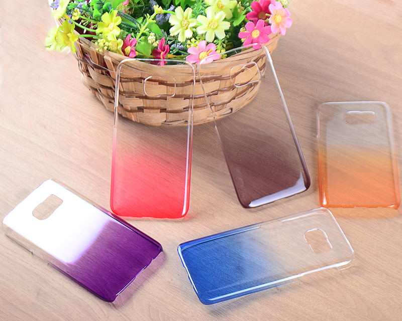 High quality Colorful gradient color clear hard PC case for Samsung galaxy S7