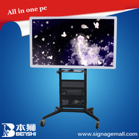gloview 3d touch interactive whiteboard with Built-in PC and central controller