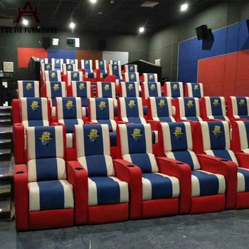 Cinema Reclining Theatre Leather Sofa