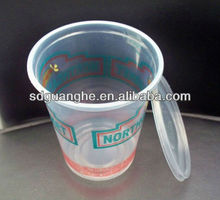 32oz color printed disposable plastic cup with lid