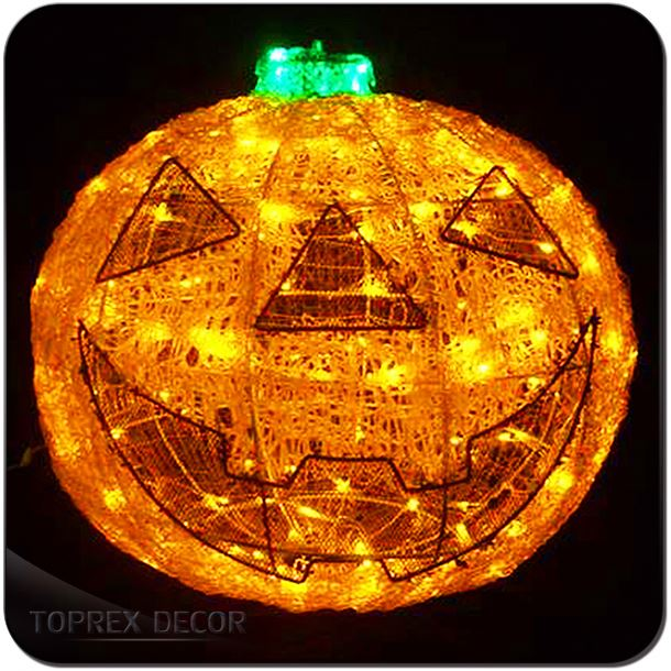 Hot Sell 5Pcs Lighted Pumpkin Carving Funny Halloween Decoration