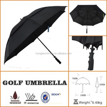 custom hang tag transfer print metal golf umbrella with pulley system