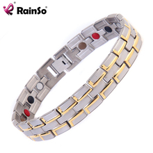China Factory Directly Stainless Steel FIR Silver Men Germanium Bracelet
