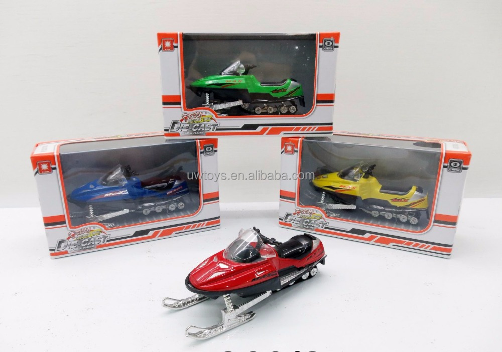 free-wheel snowmobile toy with IC & light