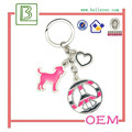 Cute Dog shape keyring cute puppy and animals keyring in zinc alloy