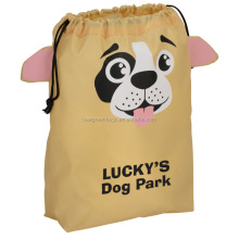Adorable animal design Polyester drawstring gift bag cute small drawstring pouches