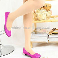 Made in China PU Glitter Modern Leather shoes making and heel shoes