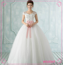 2015 Sexy Summer White Lace Bridal Formal Evening Gown Wedding Dress Pregnant Women Show A word Skirt Thin