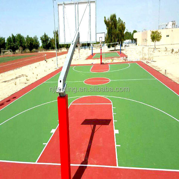 Outdoor basketball courts floor/granulated rubber floor surface/epdm granules-g-y-161020-1