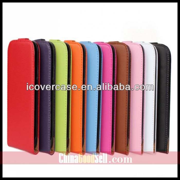 Luxury Genuine Leather Flip Cover Case For Samsung Galaxy S3 i9300 Cell Phone Housing Holster FREE SHIPPING