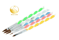 RISESUN Available Gel Paint Drawing Acrylic Disposable Nail Brush For Uv Led Gel Polish