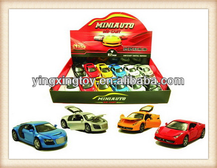Kids pull back die cast metal toy car