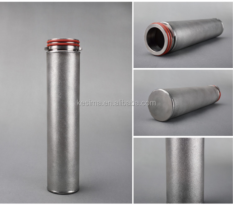 226/flat adaptor 5micron stainless steel powder sintered metal Filter Cartridge for juice filtration