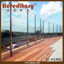 Hereditary inox steel outdoor frameless glass railing banister for balcony