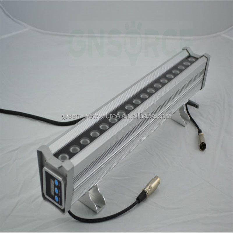 IP65 wireless dmx controller RGBW 5x8w led wall washer light for architectural lighting