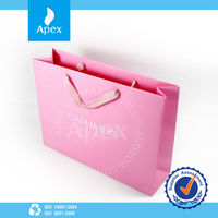 Popular Pink Customized Shopping Paper Bag