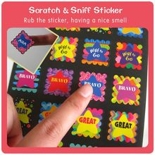 Children played Safe custom scratch & sniff sticker