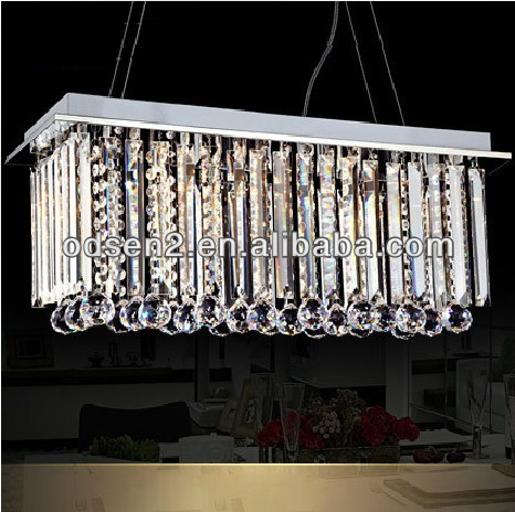 modern dining room crystal light