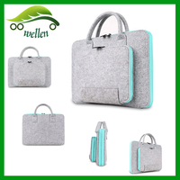 Factory hot sell fashion lady felt laptop bag