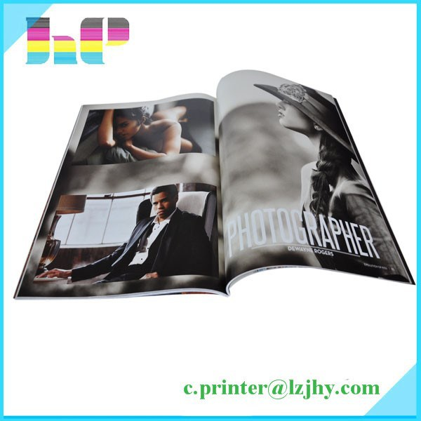 A4 softcover fashion men's magazine