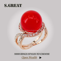 red terquise large class natural gemstone ring direct indian garnet 18k gold gemstone ring